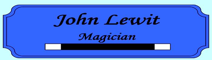 Milwaukee Magician John Lewit